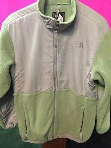 The North Face Denali Jacket Coat Girls XL 16-18 Green Grey
