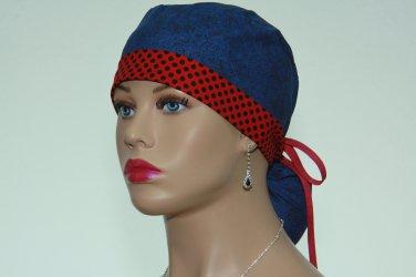 surgical Csrub Cap-Ponytail Cap-Handmade-Medical Scrub Cap-Nurse Cap-Women's Hat-100% Cotton.