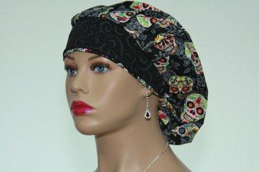 Bouffant scrub Cap-Handmade-Surgical Cap-Nurse Cap-Medical Scrub Women's Hat-100% Cotton.