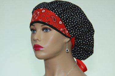 Bouffant Scrub Cap For Surgical-Handmade-Nurse Cap-Medical Scrub Cap-Veterinarian Hat-100% Cotton.