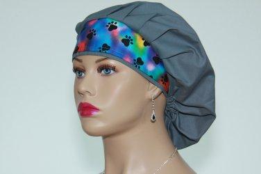 Surgical Bouffant Scrub Cap-Handmade-Nurse Cap-Medical Scrub Cap-Anesthetist Scrub Cap-100% Cotton.