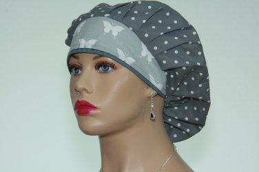 Bouffant Surgical Scrub Cap-Handmade-Anesthetist Scrub Cap-Veterinarian Cap-Women's Hat-100% Cotton.