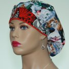 Bouffant Surgical Scrub Cap-Anesthetist Scrub Cap-Veterinarian Cap-Women's Hat-100% Cotton.