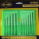 Tool Bench 12 Piece Precision Screwdriver Set
