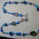 Necklace with dazzling blues