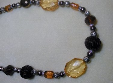 Gold & Brown Necklace