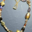 Necklace browns & golds