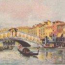 CJ79. Vintage Italian Postcard. The Rialto Bridge.Venice. Gondola.