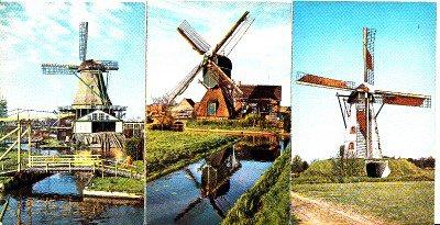 BZ160. Postcards of Dutch Windmills x 3