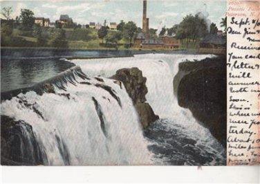 CJ07. Vintage US Undivided Postcard. Passaic Falls. Paterson. New Jersey