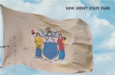 CL99. US Postcard. New Jersey State Flag.