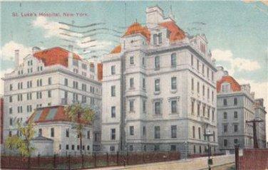 CN12. Vintage US Postcard. St. Luke's Hospital, New York.