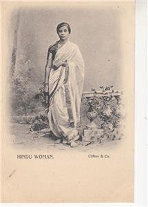 CN20.Vintage Undivided Postcard.Hindu Woman. India.