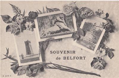 CJ33.Vintage French Multiview Postcard. Souvenir de Belfort