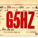 CT28.Vintage QSL Card. G5H7. Dated 1938. Santa Cruz, India