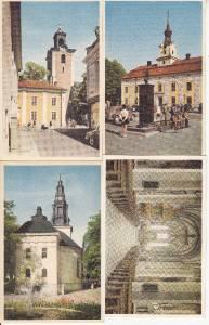 BZ032.Swedish Postcards x 4.Linkoping,Nykoping,Jonkoping