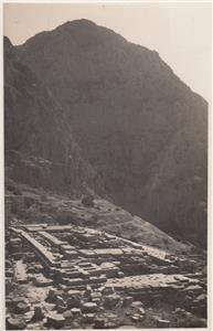 CK91.Vintage Postcard. Ruins of the Temple of Apollo. Delphi, Greece.