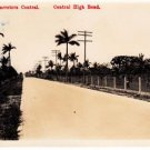 CP24.Vintage Postcard. Central High Road, Cuba