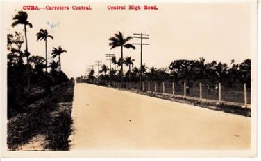 CP24.Vintage Postcard. Central High Road, Cuba