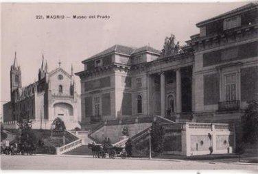 CJ12. Vintage Postcard.The Prado Museum.  Madrid. Spain.