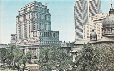 CN50.Vintage Postcard. Dominion Square, Montreal.World Exhibition City,1967