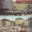 BZ015.Vintage Postcards x 2.Vienna, Market and square.Austria