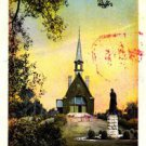 CM76.Vintage Postcard. Memorial Church and Evangeline Monument, Grand Pre.Canada