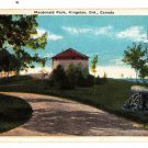 CM61. Vintage Canadian Postcard. MacDonald Park, Kingston. Ontario.