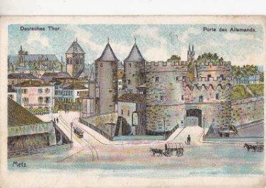 CK20.Vintage Postcard. The German Gate. Metz, France. Porte des Allemands.
