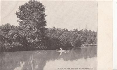 CK35. Postcard.Souvenir Mailing Card. Scene on th Humber River, Toronto.