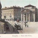 CP83. Vintage Italian Postcard. Piazza della Borsa.Trieste. Italy.