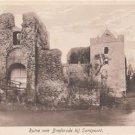 CJ56.Vintage Postcard. Ruins ofn Brederode at Santpoort. Netherlands.