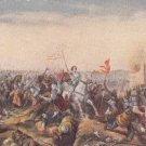 CK75.Vintage Postcard. Jeanne D'Arc first battle at Jargeau. 11 June, 1429