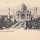 CN02.Vintage Undivided Postcard. The Taj Mahal, Agra. India.