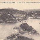 CL93.Vintage Postcard. San Sebastian, Santa Clara Island from Igueldo Bay.Spain