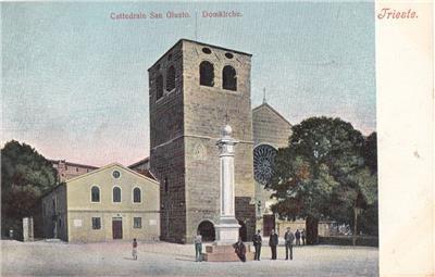CP79. Vintage Italian Postcard. Cattedrale San Giusto. Domkirche.Trieste. Italy.