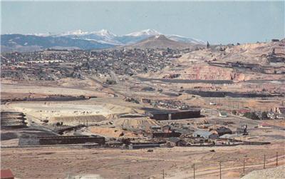 CJ06.US Postcard.Northern Pacific Railway. Butte, Montana.Copper mine.