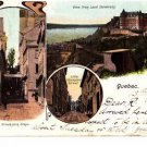 CO09.Vintage Postcard. Quebec, Canada. Breakneck Steps.Little Champlain Street.