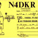CT41.QSL Card. N4DKR. Miramar, Florida, USA