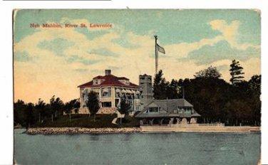 CA100. Vintage US Postcard. Neh Mahbin. St. Lawrence River.Thousand Islands. NY