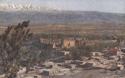 CK22. Vintage Postcard. General view of the Acropolis and city of Baalbek.
