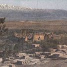 CK22. Vintage Postcard. General view of the Acropolis and city of Baalbek.
