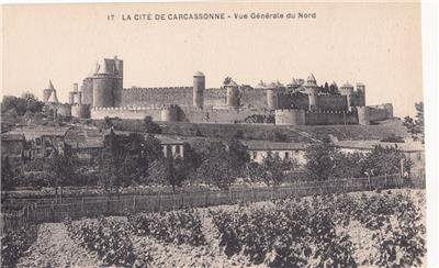 CO65.Vintage French Postcard. General view of the City of Carcassonne, France