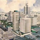 CN43.Vintage Postcard. Artists impression of Montreal.World Exhibition City,1967