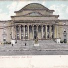 CH19.Vintage US Glittered Postcard. Columbia University Library, New York