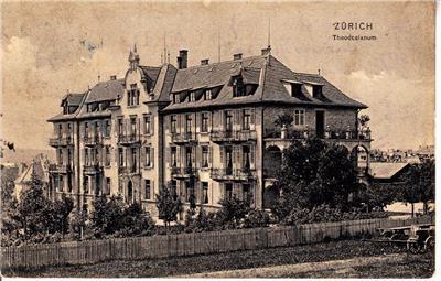 CO81.Vintage Swiss Postcard. Theodosianum, Zurich. Hospital, Nursing Home?