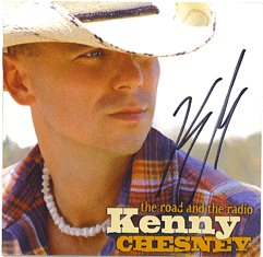 NEW AUTOGRAPHED KENNY CHESNEY CD ROAD AND RADIO SIGNED