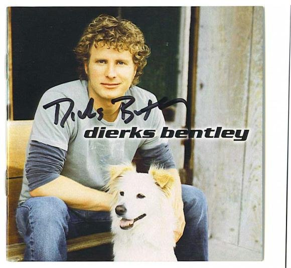 AUTOGRAPHED DIERKS BENTLEY DEBUT CD Signed