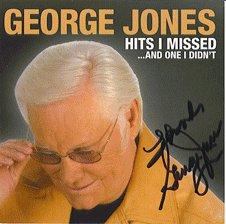 AUTOGRAPHED George Jones Signed CD HOF ON SALE