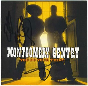 AUTOGRAPHED MONTGOMERY GENTRY CD Signed ON SALE